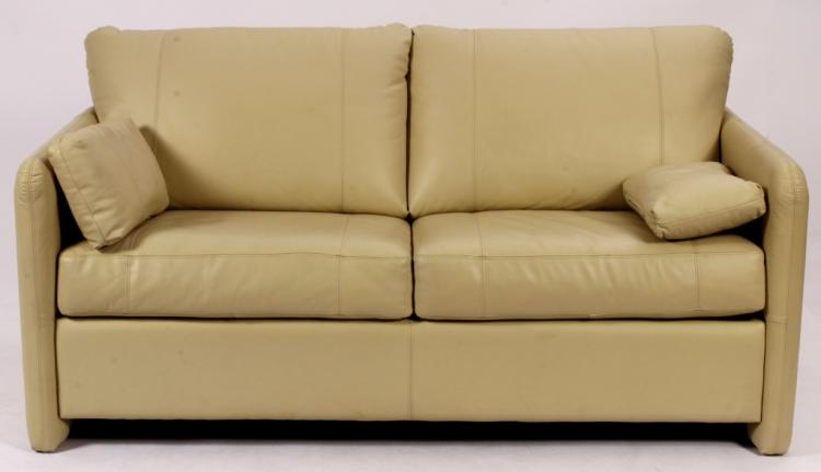 Contemporary Faux Leather Sleep Sofa