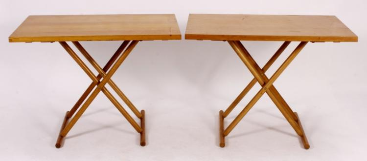 Pr. of Brazilian Mid Century Modern Wooden Tables
