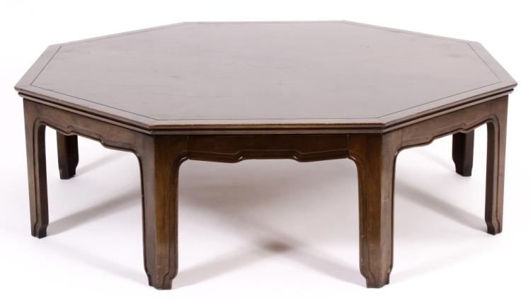 Widdecomb Wood Octagonal Asian Cocktail Table