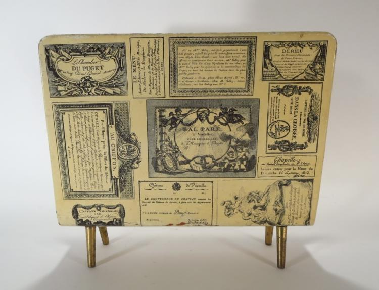 Piero Fornasetti Lithographed Magazine Rack