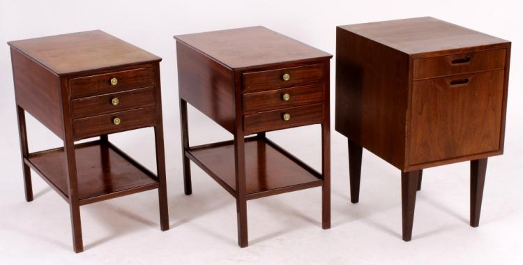 Danish Modern Chest on Legs & End Table