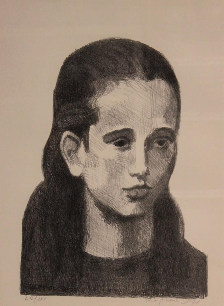 Raphael Soyer,Rus./Am.,Portrait of Joan,litho