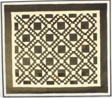 Large Vintage Black and White Framed Quilt