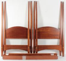 Pair of Ethan Allen Twin Four Poster Beds