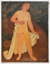Maurice Savin, French, Nu Debout, 1952, O/C