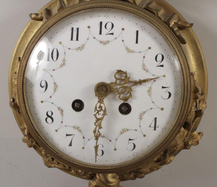 Striking Brass Wall Clock With Bow Detail Early 20th C
