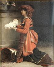 Jules Joseph Lefebvre, Fr. 1836-1911, Mother & Infant, O/P