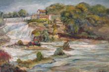 George Baer, Am., 1895-1971, Mill Reservoir, o/c