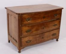 18th C. French Provincial Walnut Commode