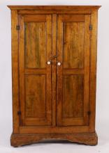 Grain-Painted Wall Cupboard, L18th/ E19th C.