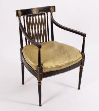 Regency Armchair w Caned Seat, 19th C.