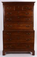 Chippendale Mahogany Chest on Chest, c. 1780