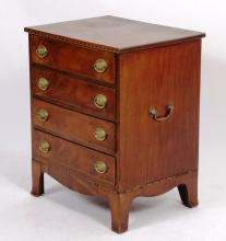 American Mahogany Inlaid  Chest,19th C.