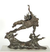 "Ezio Martinelli Bronze Sculpture ""Flying Woman"""