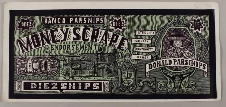 Adam Dant, UK, b. 1967, Donald Parsnip, lithograph