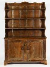 Pine Welsh Cupboard. 19th C.
