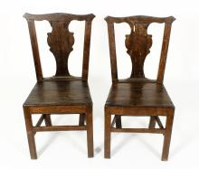 Pr. of Rosewood Colonial Chairs,19th C. or earlier