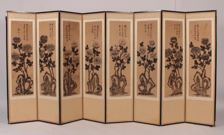 Chu Ye-Shik,Kor., 8 Panel Screen,17-18th C.