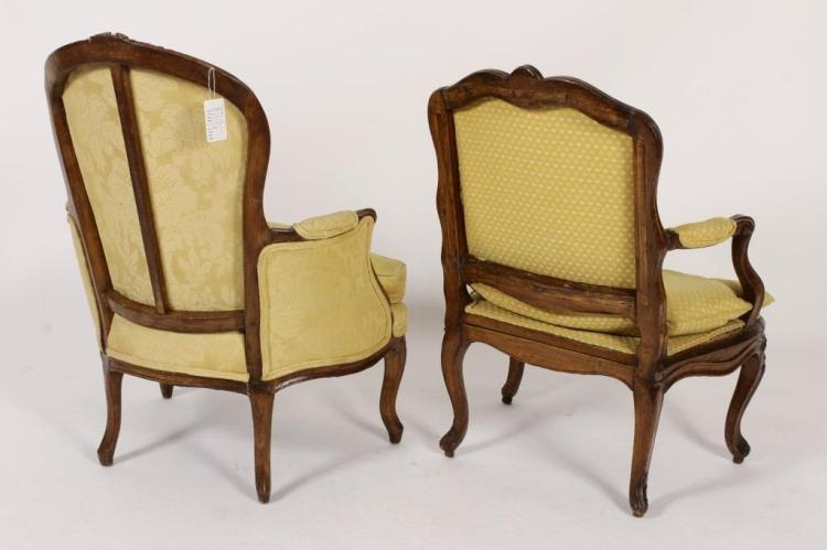 louis xv wood carved fauteuil and bergere. Black Bedroom Furniture Sets. Home Design Ideas