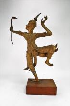 Thai Gilt Bronze Sculpture of Prince Rama