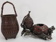 2 Japanese Ikebana Baskets, early 20th C.