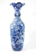 Asian Palace Urn, 19th C. Blue & White