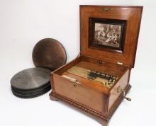 Polyphon Music Box 1890 55 Disks Excellent Borland