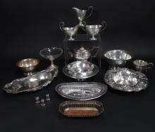 16 Pieces of Sterling Silver Holloware