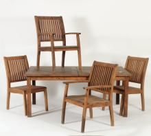 Barlow Tyrie Teak Extension Table/Chairs