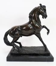Bronze Model of a Startled Horse, 20th c.