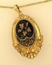 14K Gold Chain and Gold Filled Locket