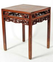 Chinese Square Wine Table, 19th C.
