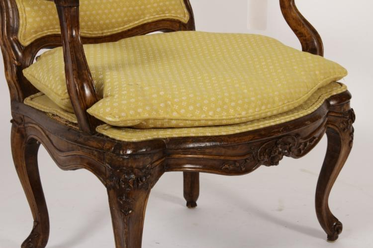 louis xv wood carved fauteuil and bergere