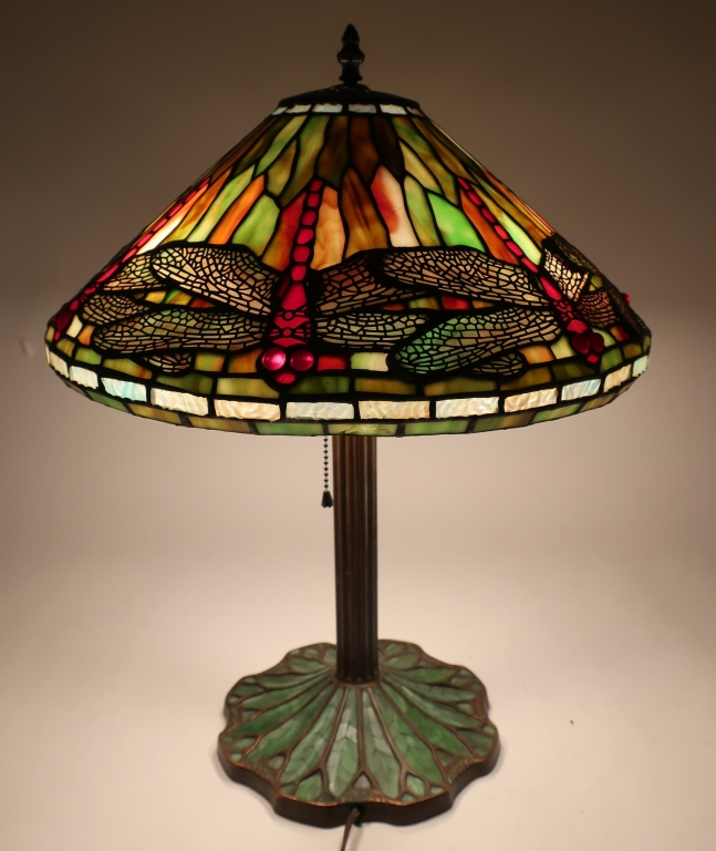 Tiffany Dragonfly Reproduction Table Lamp
