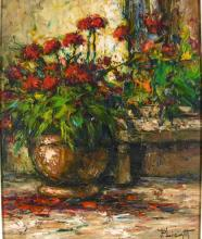 Jose Paolo Licatti, Still Life of Red Flowers