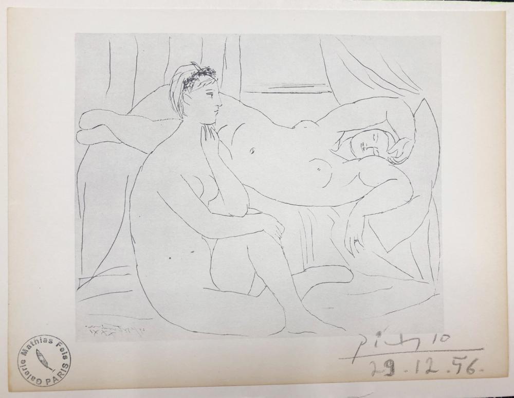 "Pablo Picasso – ""Mujeres descansando, SV10""- COA."