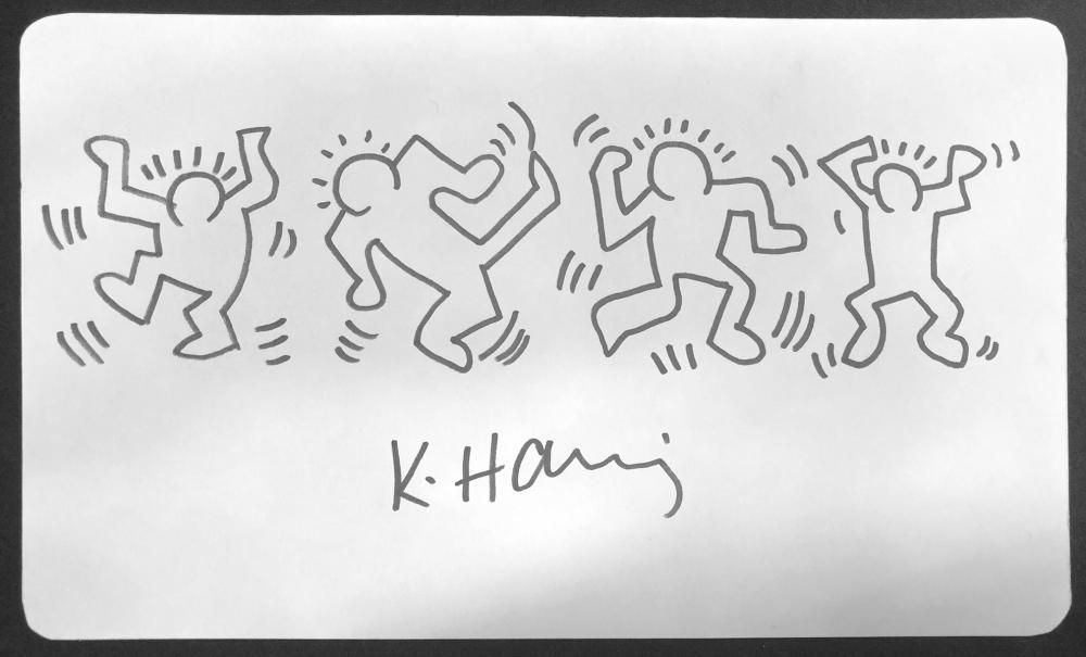 """Keith Haring - """"Dancing men"""". COA"""