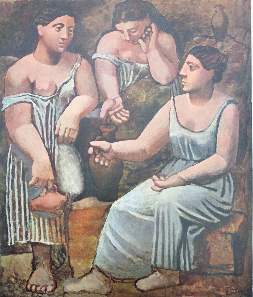 """Pablo Picasso – """"Tres mujeres en la fuente"""". COA."""