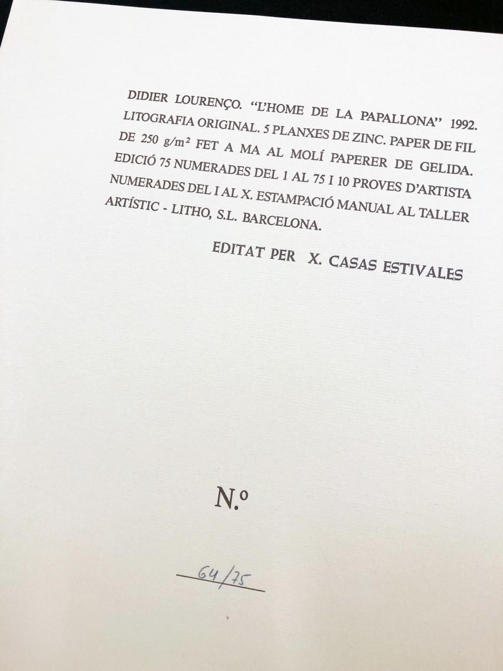 "Didier Lourenço – ""L'home de la papallona"" 1992."