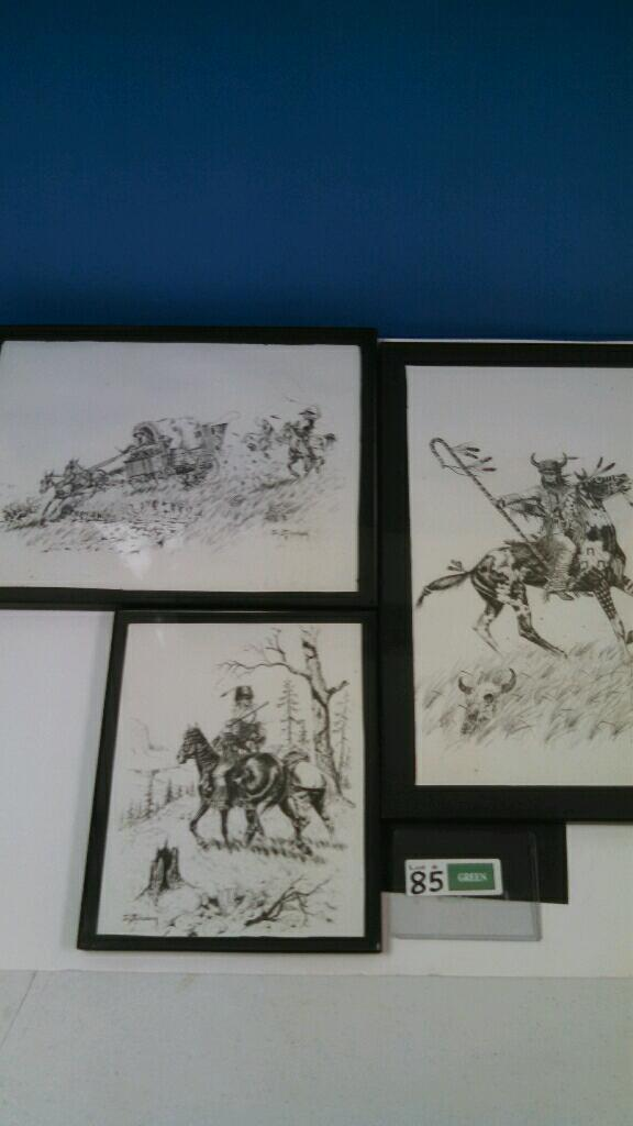 (3) western prints by Jim Stuckenberg
