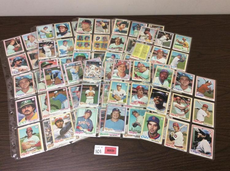 (180) 1978 Topps Baseball Cards - All For One Money