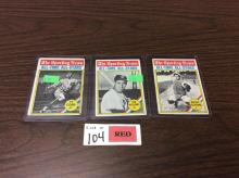 (3) 1976 Topps Sporting News Baseball Cards (Cobb, Williams, Cochran) - All For One Money