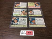 (6) Post Baseball Cards - All For One Money