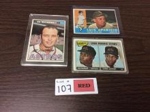 (3) 1960's Topps Baseball Cards - All For One Money