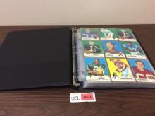 Binder of 1969 Topps Football Cards - For One Money