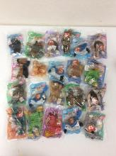 21 Misc. Original McDonalds Teenie Beanie Babies still in packaging plus Original Happy Meal Bags