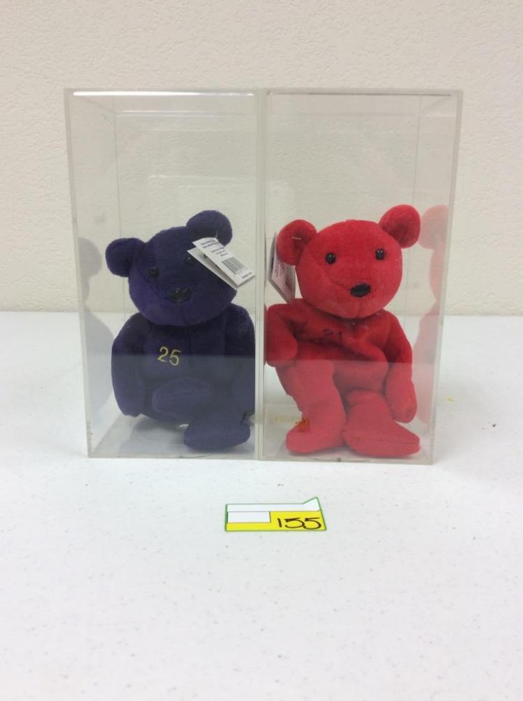 2 Bamm Beano's Bears with Display Cases - McGwire and Sosa