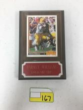 1991 Upper Deck Star Rookie Card Mounted on Plaque - Harvey Williams