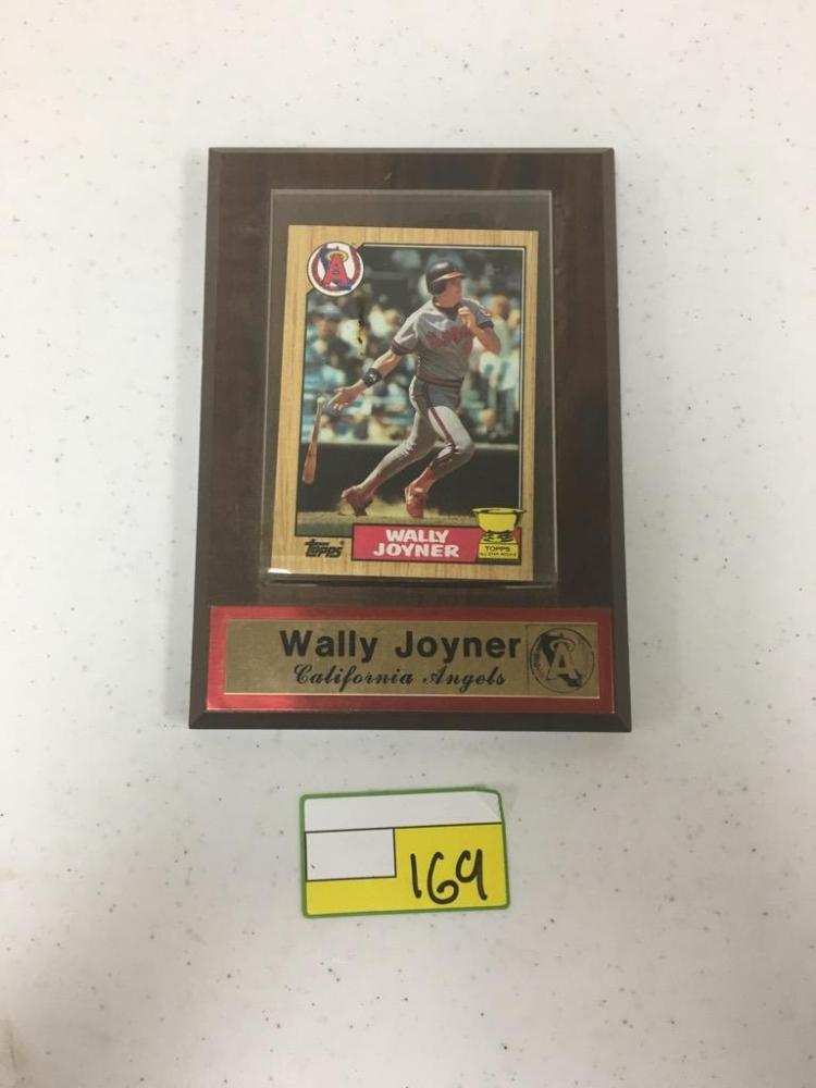 Topps All-Star Rookie Card Mounted on Plaque - Wally Joyner