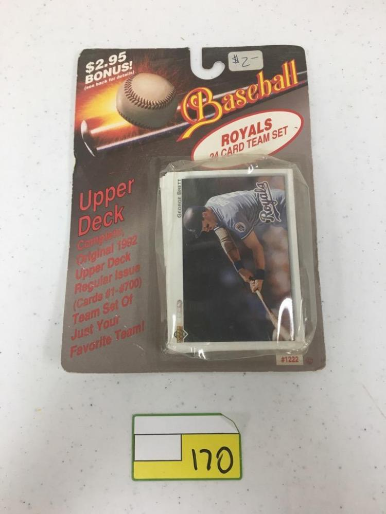 1992 Upper Deck Complete Original Royal's Team Card Set - 24 Cards